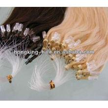 whosale alta calidad micro anillo perlas bucle fácil miro anillo de extensión del cabello