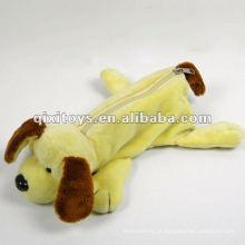 caso de lápis de cão de pelúcia zíper para adolescentes