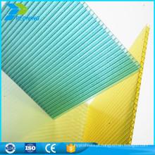 China fábrica melhores materiais de telhado de plástico policarbonato pc preço da folha oca