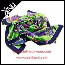 2015 Mesdames Custom Print 100 Pure en gros écharpes en soie