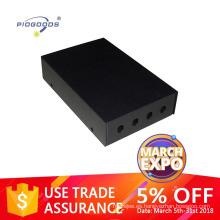 PGODF2011 4 puertos caja de terminación de fibra óptica FC SC ST LC adaptador disponible distribución empalme material de metal montado en la pared