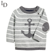 Дети хлопок полосатый Джемпер пуловер вязаная Детская хлопок свитер