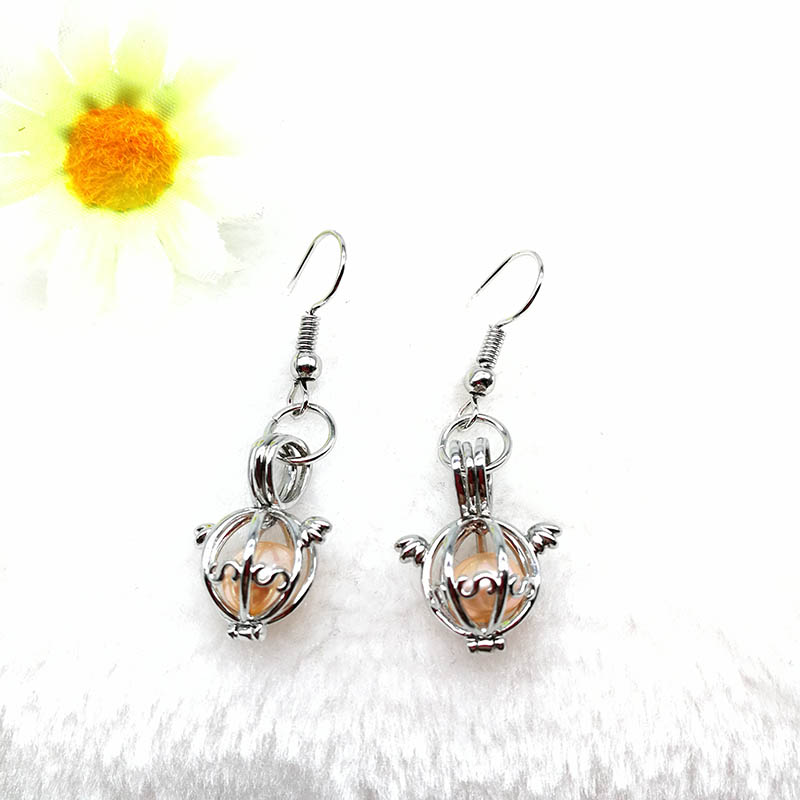 Pearl Locket Cage Earring