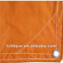 Cubierta de fibra de vidrio con recubrimiento de PVC