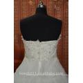 EN STOCK Vestido de novia sin mangas del vestido de boda de la bola de los plisados del hombro del Hombro-Hombro SW03