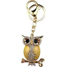 Black eyes point drill owl keychain