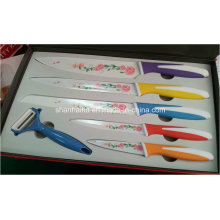 6PCS Colorful Coating Stainless Steel Knife Set