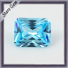Light Aquamarine Princess Cut Shining CZ Stones