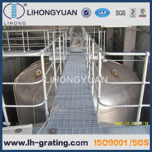 Barra de aço galvanizada quente grade para piso passarela