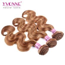 Misture o cabelo peruano colorido da extensão do cabelo da onda do corpo