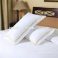 Tela de satén blanca de la venta caliente con la caja de la almohadilla del hotel de la insignia del bordado