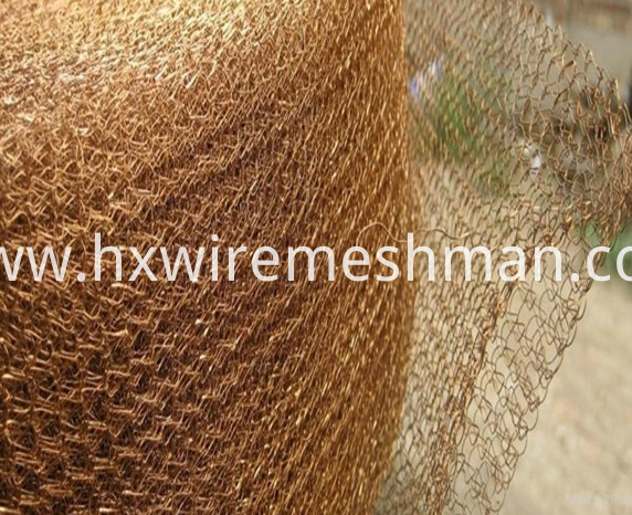 knitted mesh copper