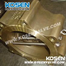 Cast Bronze Wafer plaque double clapet anti-retour (H76)