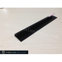 Aluminium Radius Tile Trim in Anodised Black Color