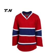 Venta al por mayor reversible blanco Sublimación barato hockey sobre hielo personalizado Jersey
