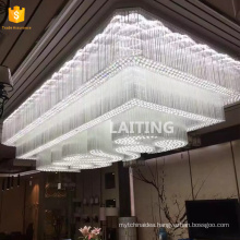 Large custom made crystal ceiling lighting chandeliers for hotels lobby