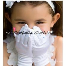 2016 Venta al por mayor de la fábrica guantes de satén formal de la boda para florista