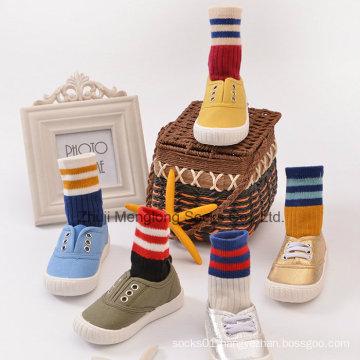 Classic Pattern Boys Double Stripes Good Quality Cotton Socks