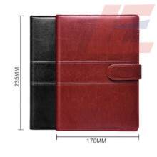 High Grade Noble Design PU Notebook with Magnetic Lock and Spiral Inside