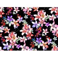 Black Nylon Kimono Printed Swimwear Fabric (ASQ100)
