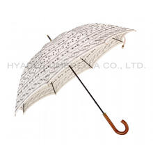 guarda-chuva de cabo reto de madeira