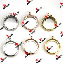 Steel Color/Rose Gold Color/Gold Color Round Stainless Steel Lockets (LSK60128)