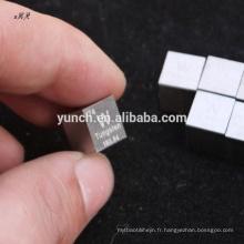 chine top dix produits de vente haute pureté de haute qualité cube de tungstène