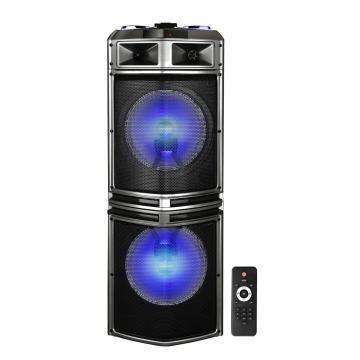 Alto-falante Bluetooth para festas com 2 microfones sem fio