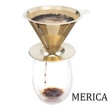 Golden Stainless Steel Paperless Coffee Dripper