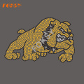 Mor av Bulldog Hot Fix Rhinestone Motif