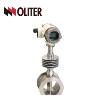 stainless steel flange type liquid vortex flow meter of wafer measuring with LED