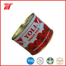 800g saudável orgânica enlatada de tomate com Yoli Brand