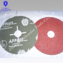 Disco de fibra de vidrio de fibra abrasiva y de unión por abrasión y resina