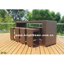 Mobiliário de jardim Mobiliário de jardim Cadeia Rattan Tabe Bar Set