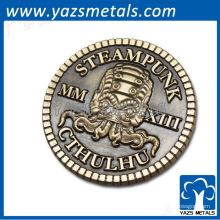 lembrança antiga da moeda do metal do bronze