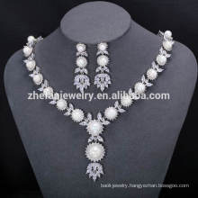 luxury jewelry Wedding Jewellery Pearl Necklace Sets Designs For Women