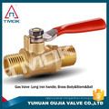 "TMOK 1/8"" NPT Female x Male Mini Brass Ball Valve, Full Port, 600 WOG Lever Handle"