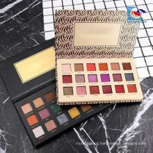 Cosmetics white cardboard book shape eyeshadow palette 12 warna