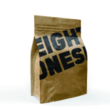 Setengah Kraft Paper Bag Mock-up