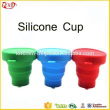 Copa reciclado de té de silicona de grado alimenticio personalizado