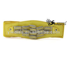 2015 New Design Yellow Fashion Elastic Wide PU Ceintures en gros BC3886-1