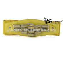 2015 новый дизайн желтый моды эластичный широкий PU пояса Оптовая BC3886-1