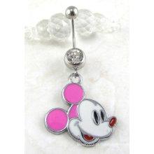 Mickey jóias corpo barriga piercing jóias umbigo anel