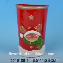 Humidificateur en céramique à décoration de Noël avec figurine de cerf