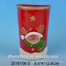 Natal, decoração, cerâmico, ar, umidificador, veado, estatueta