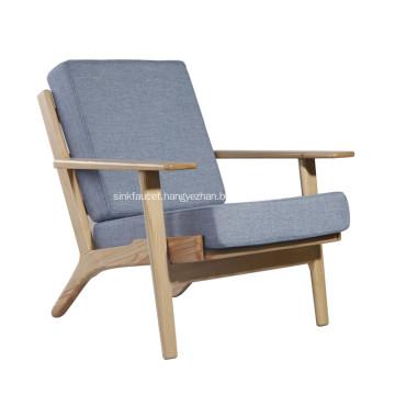Cashmere Hans Wegner Plank Arm Chair Replica