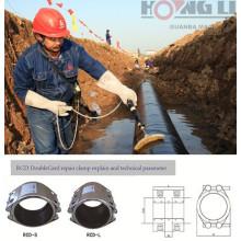 Braçadeira de reparo de tubulação de aço inoxidável flexível RCD para tubulação de água / gás / combustível