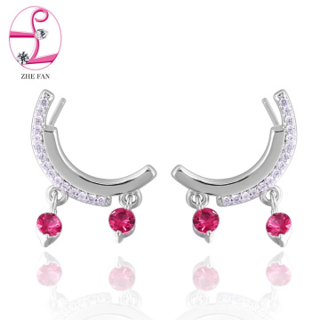 jewelry zhefan mini order 2018 New food grade zirconia earrings With the Best Quality