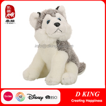 Cheap Custom Plush Sitting Stuffed Husky Dog Animals