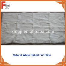 Plaque de peau de lapin blanc naturel chinois